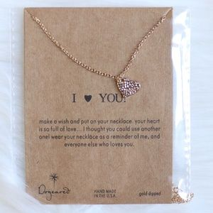Dainty I Heart Love You Necklace Pendant ✨